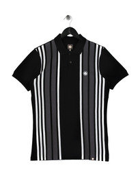 Pretty Green Striped Polo Shirt Black