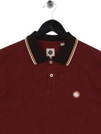 Pretty Green Tipped Pique Polo Shirt Red