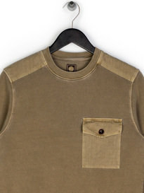 Pretty Green Trebeck Crew Sweat Khaki