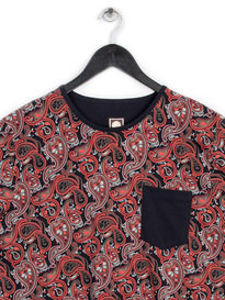 PRETTY GREEN TURNER PAISLEY CREW T-SHIRT BLACK