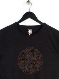 PRETTY GREEN TURNER PAISLEY LOGO T-SHIRT BLACK