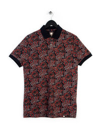 Pretty Green Turner Paisley Polo Shirt Black