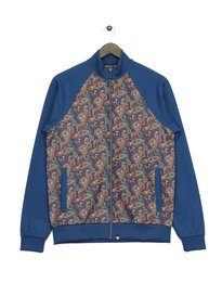 Pretty Green Vintage Paisley TrackTop Blue