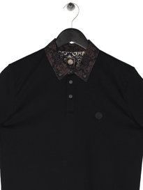 Pretty Green Wardour SS Collar Polo Black