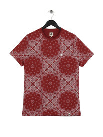 Pretty Green Winton Paisley T-Shirt Red