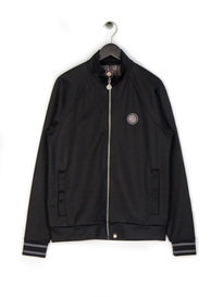Pretty Green Zip Through Tracktop Black