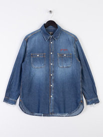 PRPS Shelby M Dark Wash Denim Shirt
