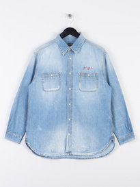Shelby M Light Wash Denim Shirt