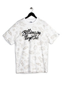 BILLIONAIRE BOYS CLUB GALAXY AOP SS T-SHIRT WHITE