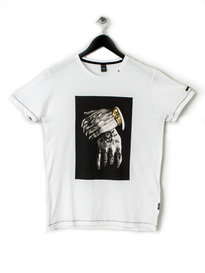 REPLAY HAND TEE WHITE