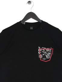Replay Abstract Pocket T-Shirt Black