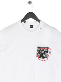 Replay Abstract Pocket T-Shirt White