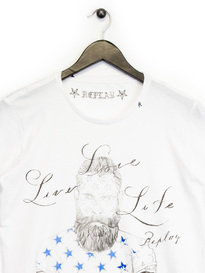 Replay Bearded Man T-Shirt White