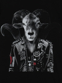 REPLAY BIKER GOAT TSHIRT BLACK