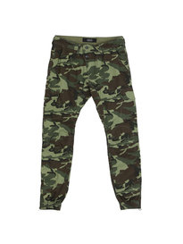 Replay Camo Cuffed Trousers Green