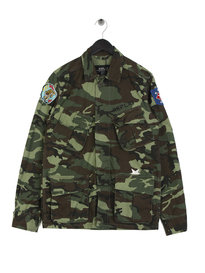 Replay Camo Patches Overshirt Green Camo
