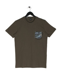 Replay Camo Pocket Short Sleeve T-Shirt Olive Green