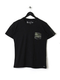 REPLAY CAMO POCKET T SHIRT 098 BLACK