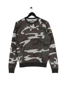 Replay Camouflage Patch Sweatshirt Green Camo