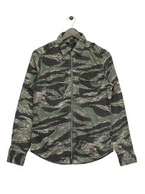 Replay Camo Zip Shirt Green