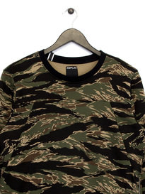 Replay Camo Zip Up Sweat Top Green