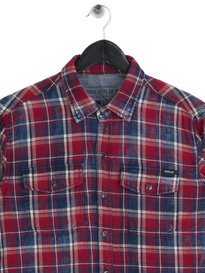 Replay Check Flannel Shirt Red