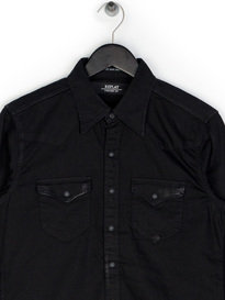 Replay Double Chest Pocket Shirt Black