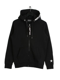 Replay Eighty One Hoodie Black