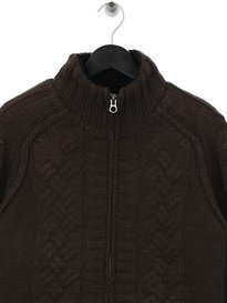 Replay Fleece Lined Cardigan Brown