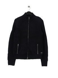 Replay Fleece Pocket Cardigan Navy