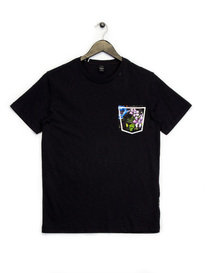 Replay Floral Pocket T-Shirt Black