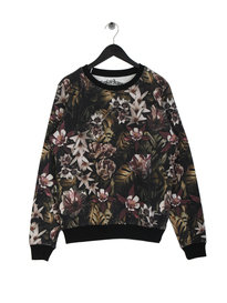 Replay Floral Sweatshirt Black