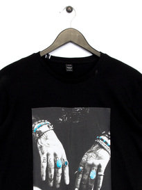 Replay Hands Graphic T-Shirt Black