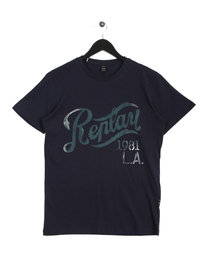Replay Herren T-Shirt Navy