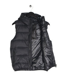 Replay Hooded Gilet Black