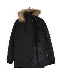 Replay Hooded Parka Black