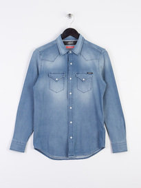 Replay Hyperflex Long Sleeve Denim Shirt