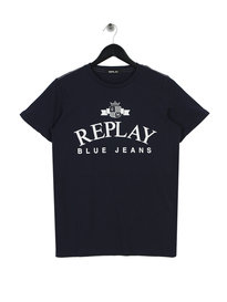 Replay Large Logo T-Shirt Navy