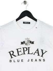 Replay Large Logo T-Shirt White