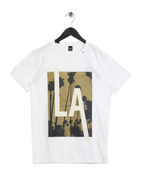 Replay LA Short Sleeve Crew Neck T-Shirt White