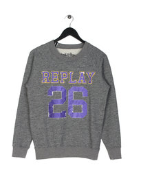 Replay Logo 26 Sweatshirt Grey