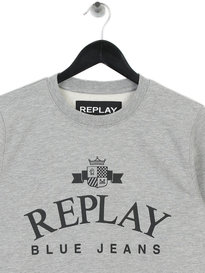 Replay Logo Sweat Grey
