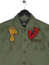 Replay M8825 Patch Overshirt Green