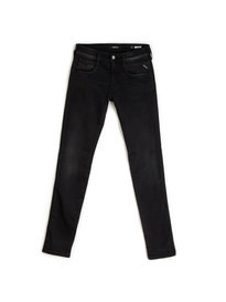 Replay M914 661 06B Anbass Hyperflex Black Jeans