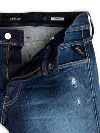 Replay M914 661 Anbass Hyperflex Broken & Repair Denim