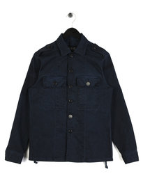 Replay Military Stretch Overshirt Navy