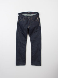 Replay Newbill 11.5Oz Dark Blue Loose Fitting Jeans