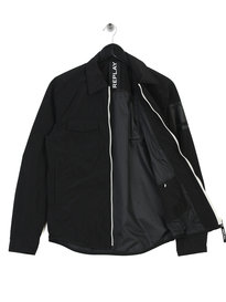 Replay Nylon Zip Jacket Black