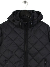 Replay Padded Hooded Jacket Black