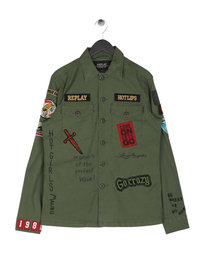 Replay Patch Overshirt Khaki